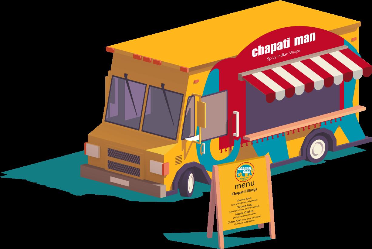 Chapati Man food truck at Glastonbury Festival