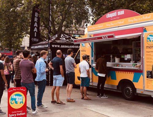 Chapati Man at Trafalgar Square! World Cup Cricket Fanzone Boom!